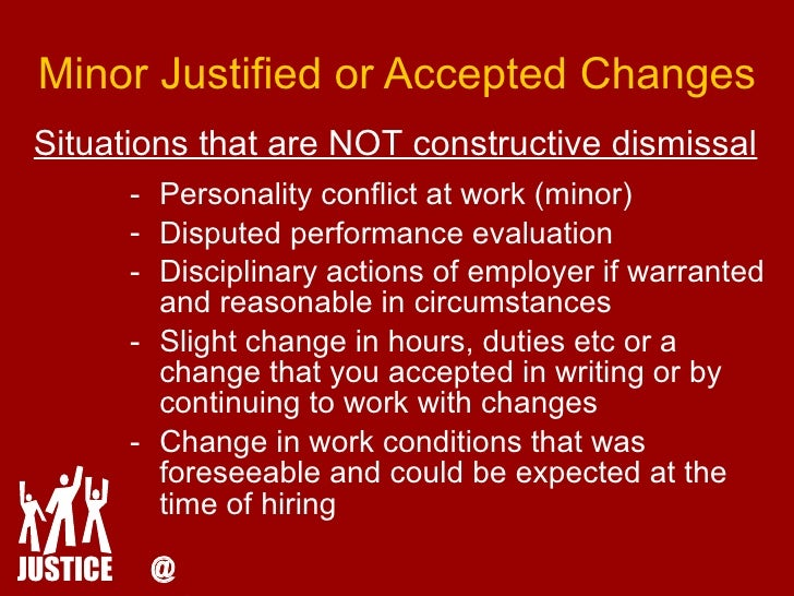 "constructive discharge essay Constructive discharge is a recourse for employees to use under title vii it allows the employee to ""quit"" his or her job due to intolerable conditions, which ."