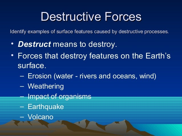 essay on rivers are constructive and destructive Linguistic signs of conflict linguistic signs of destructive and constructive processes in conflict in this paper we address the destructiveness and constructiveness.