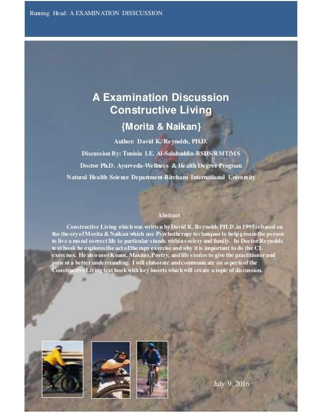 Charming A Examination Discussion Constructive Living {Morita U0026 Naikan} Author:  David K. Reynolds ...