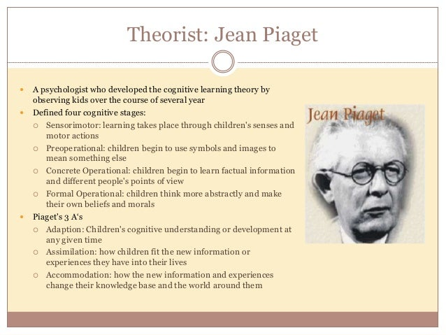 """critically examine contribution jean piaget our understand """"his particular insight was the role of maturation (simply growing up) in children's increasing capacity to understand their world: they cannot undertake certain tasks until they are psychologically mature enough to do so,"""" according to learning and teaching information jean piaget made note of certain stages of development that allowed."""