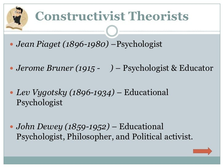 a biography of constructivist jean piaget Piaget can be considered the father of the theory of constructivism constructivism is a theory on learning, which suggests that people acquire knowledge by experiencing things and in conjunction with knowledge that they already possess, construct their own understanding of these things.