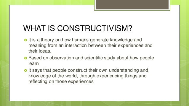 what is knowledge construction