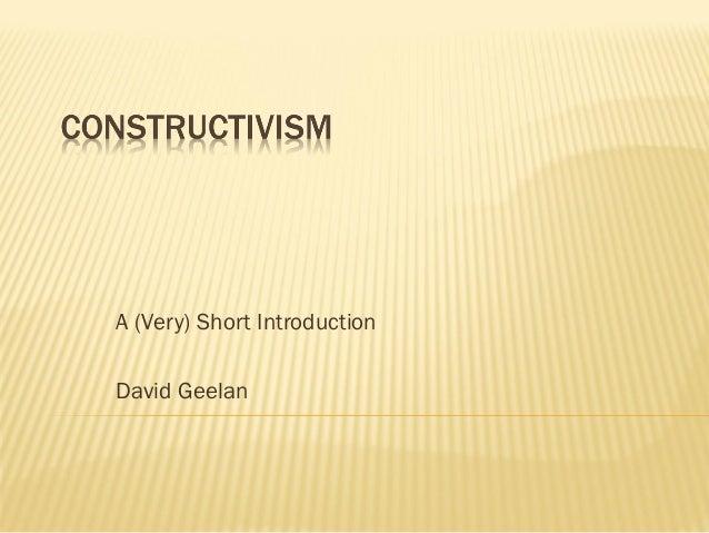 A (Very) Short IntroductionDavid Geelan