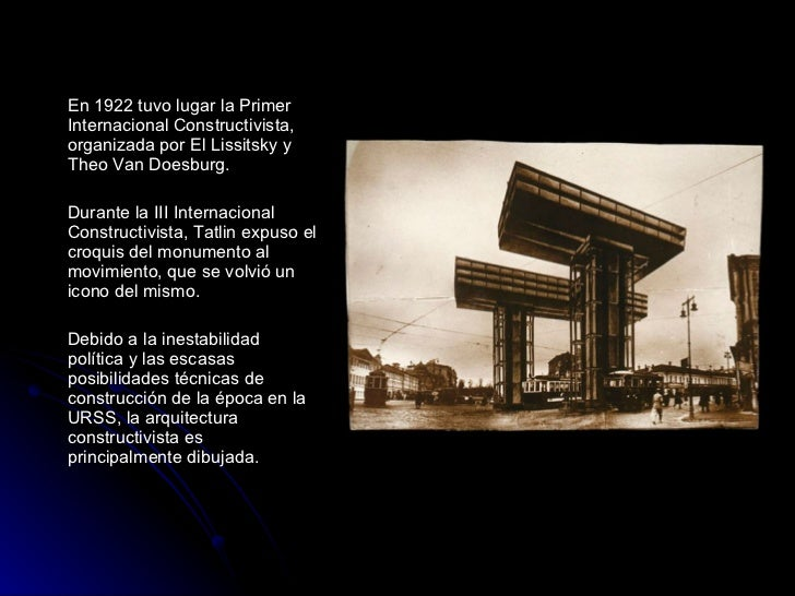 Constructivismo Porque la arquitectura es tecnica