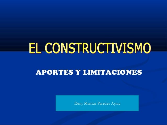 APORTES Y LIMITACIONES Dany Maritza Paredes Ayrac