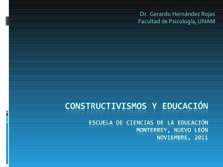 Dr.  Gerardo Hernández Rojas Facultad de Psicología, UNAM