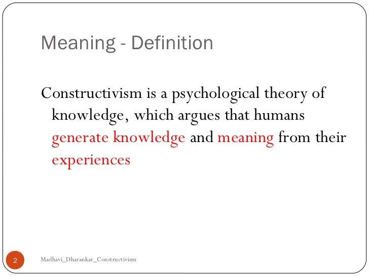 Is It Constructivism?