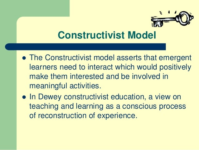 constructivist model Constructivist learning allows learners to synthesize and understand new   finally, a constructivist model for teaching a major unit in an effective listening.