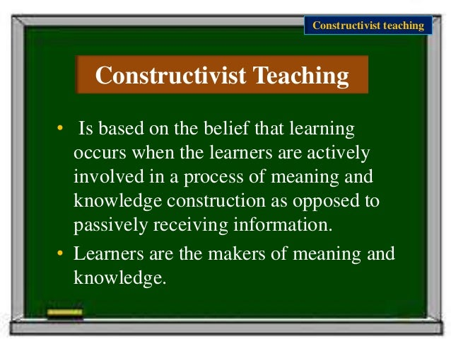 constructivist teaching Teachers implemented constructivist teaching in their classes and whether  teachers' career motivation had any relationship with that implementation.