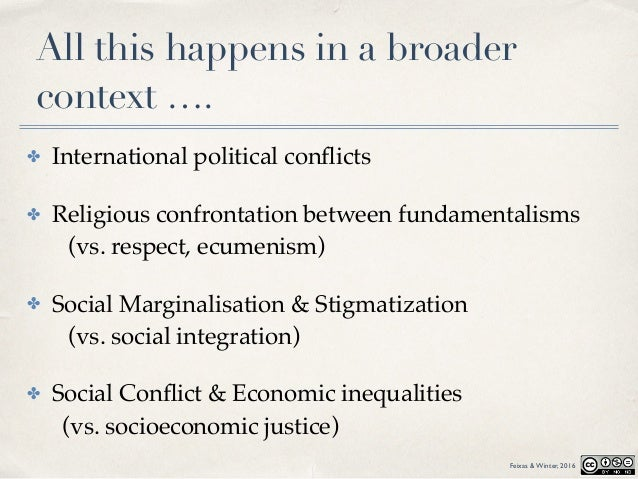 All this happens in a broader context …. ✤ International political conflicts ✤ Religious confrontation between fundamentali...
