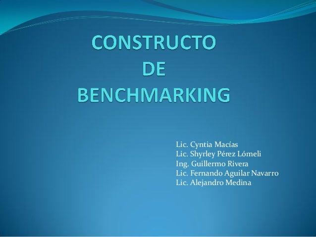 Lic. Cyntia MacíasLic. Shyrley Pérez LómeliIng. Guillermo RiveraLic. Fernando Aguilar NavarroLic. Alejandro Medina