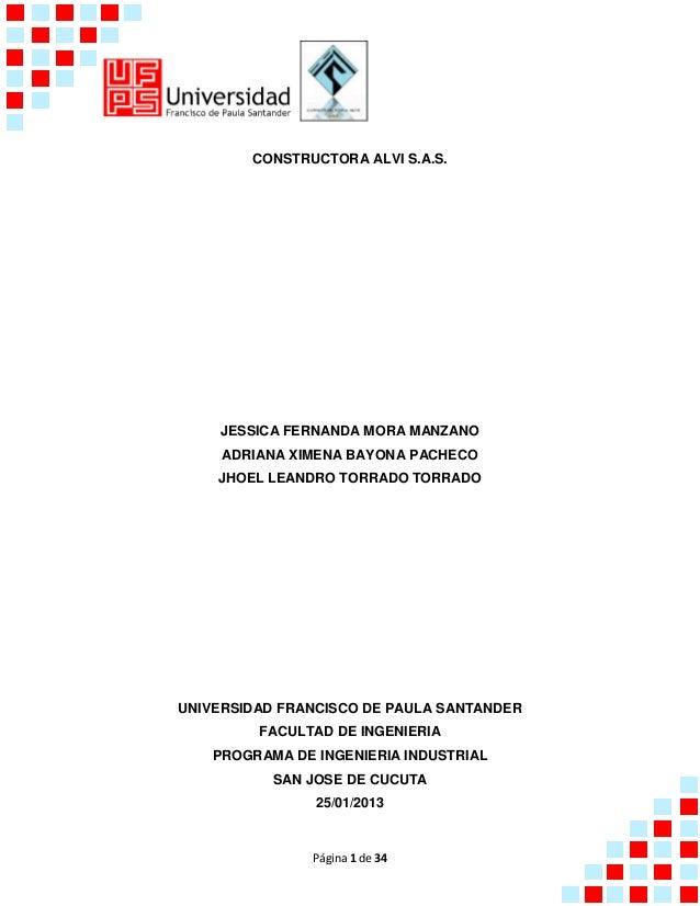CONSTRUCTORA ALVI S.A.S.    JESSICA FERNANDA MORA MANZANO     ADRIANA XIMENA BAYONA PACHECO    JHOEL LEANDRO TORRADO TORRA...