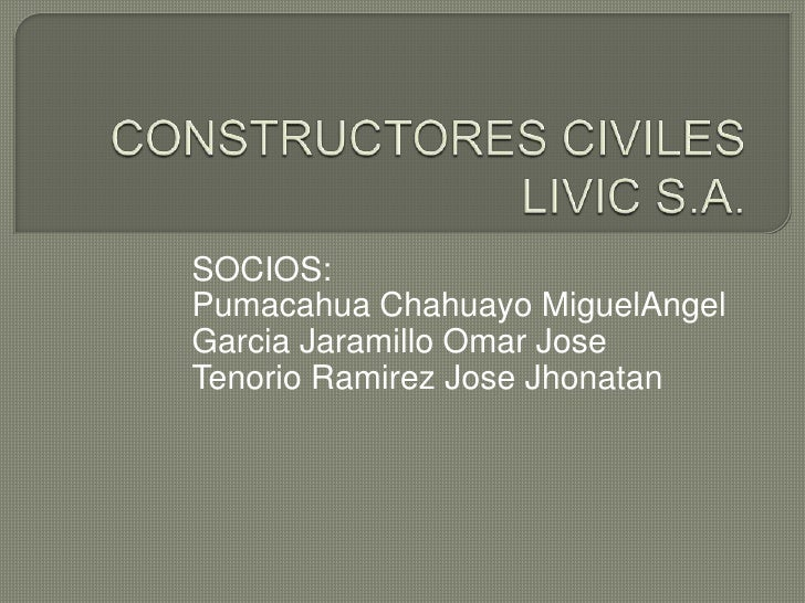 Constructores Civiles Livic