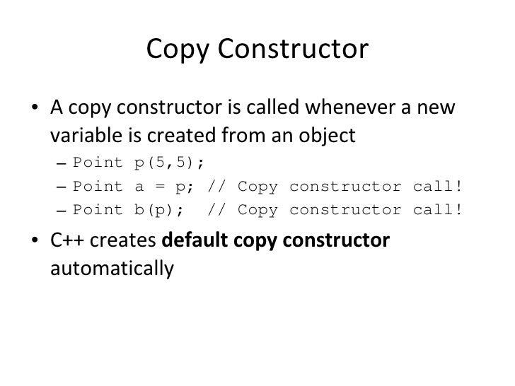 c private clone constructor task operator