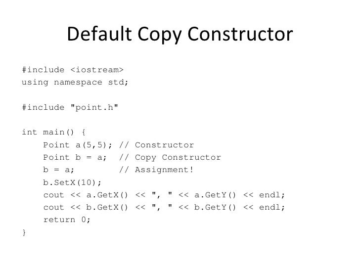c professional clone constructor paper operator