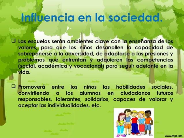 Familia:  Al ser esta el nudo esencial de la constitución de la personalidad de los niños, permitirá en ellos desarrolla...