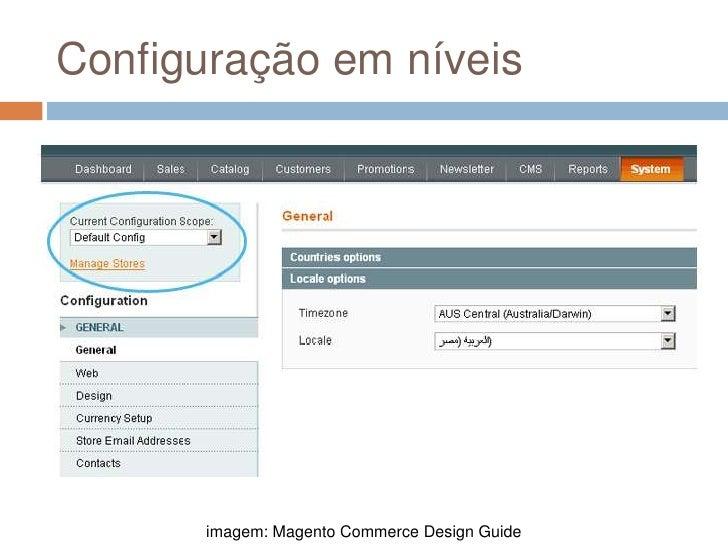 Configuração em níveis<br />imagem: Magento Commerce Design Guide<br />