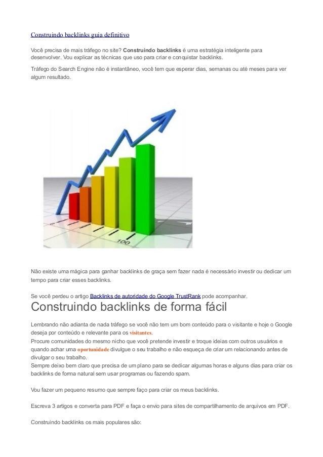 Construindo backlinks guia definitivo Você precisa de mais tráfego no site? Construindo backlinks é uma estratégia intelig...