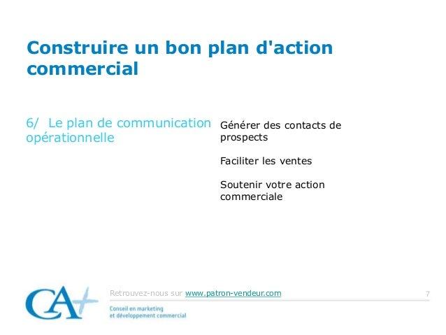 Construire un bon plan d 39 action commercial - Construire un plan de travail ...