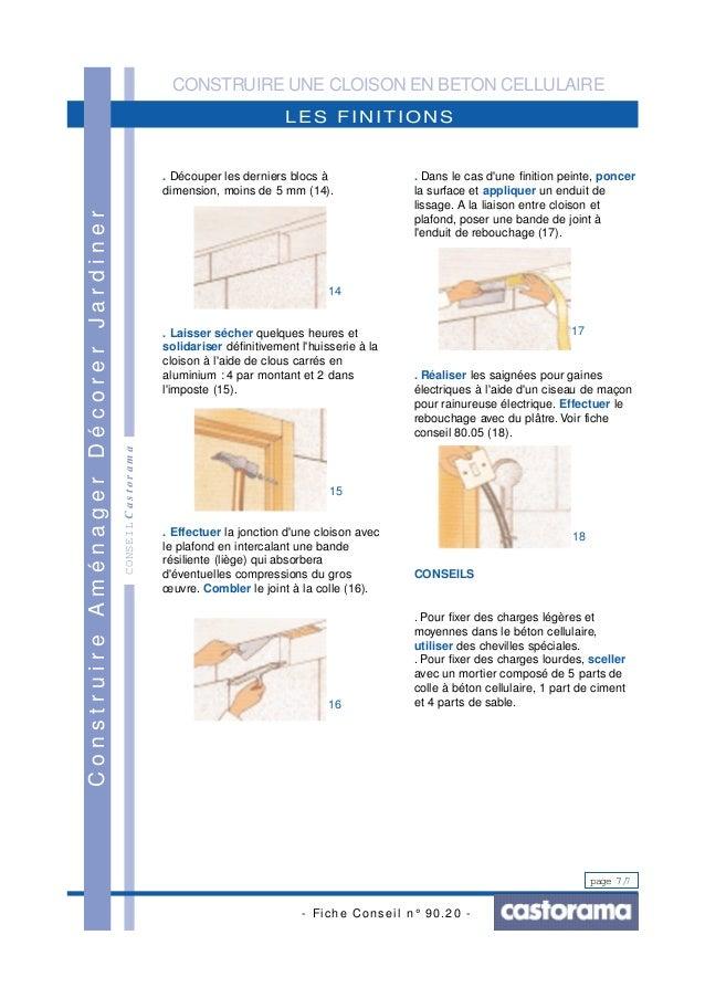 Construire une cloison en beton cellulaire for Construire une cloison amovible
