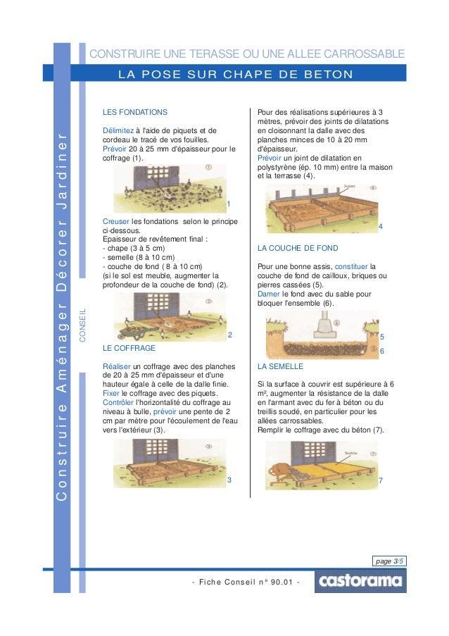 Construire une terrasse ou une all e carrossable - Dalle beton pour allee carrossable ...
