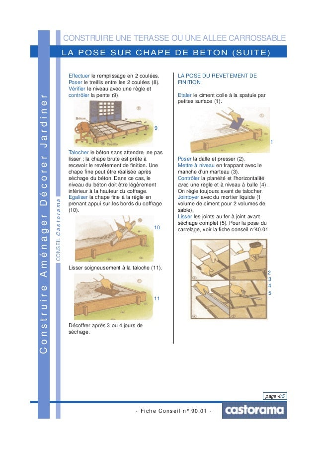 Construire une terrasse ou une all e carrossable - Construire une allee carrossable ...