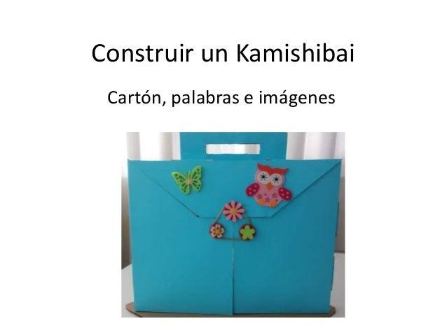 Construir un Kamishibai Cartón, palabras e imágenes