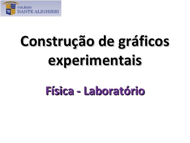 Construção de gráficos   experimentais   Física - Laboratório
