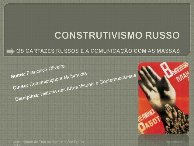 Universidade de Trás-os-Montes e Alto Douro   Novembro