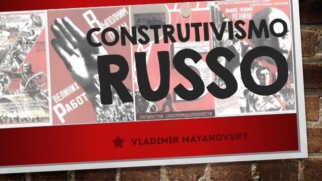 O Construtivismo Russo foi um movimento de renovação artística e arquitetónica de vanguarda que surgiu no início do século...