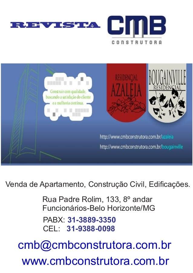 REVISTA Venda de Apartamento, Construção Civil, Edificações. Rua Padre Rolim, 133, 8º andar Funcionários-Belo Horizonte/MG ...