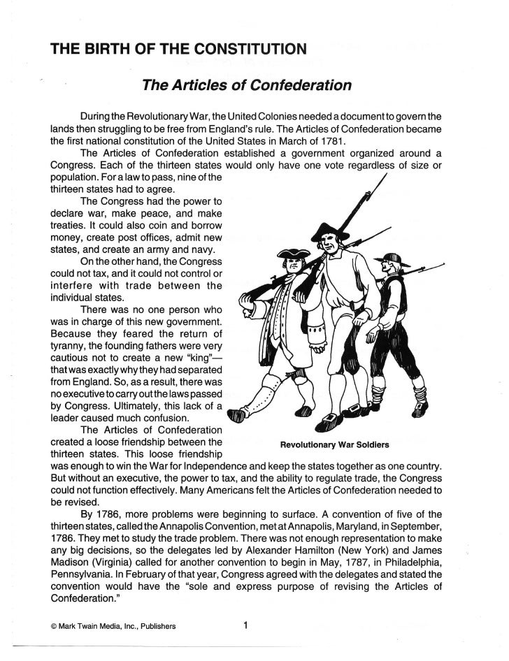 Constitution Worksheets – Ratifying the Constitution Worksheet