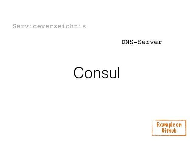 service discovery mit consul