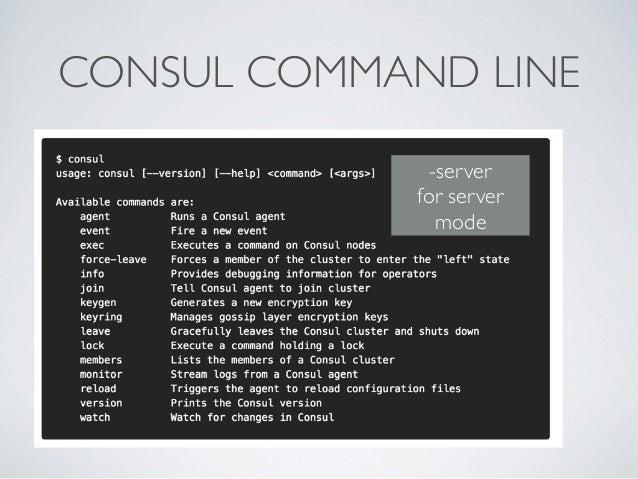 CONSUL COMMAND LINE -server  for server mode