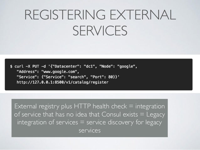Consul microservice enabling microservices and reactive for Consul external service