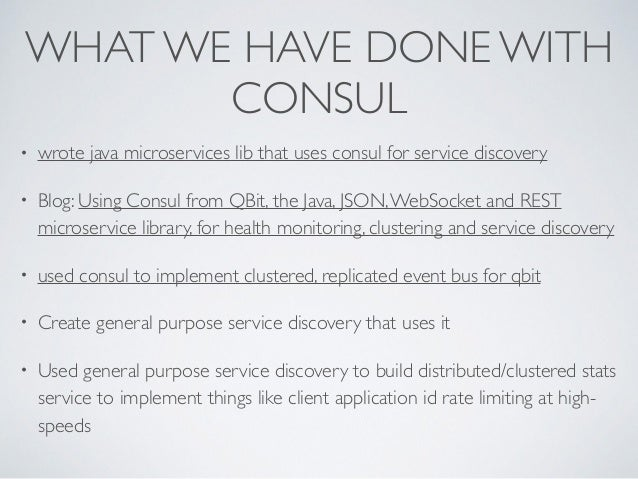 Consul microservice enabling microservices and reactive for Consul java client