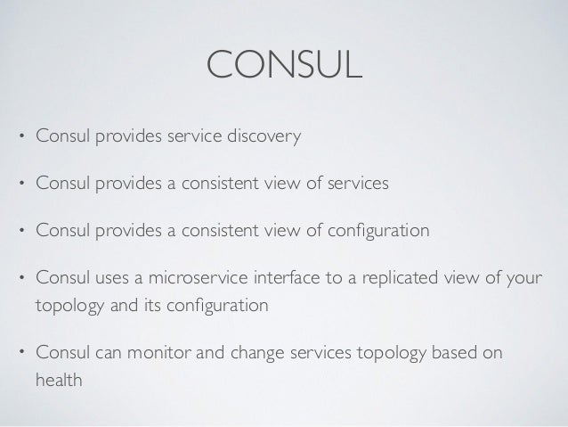Consul microservice enabling microservices and reactive for Consul monitoring
