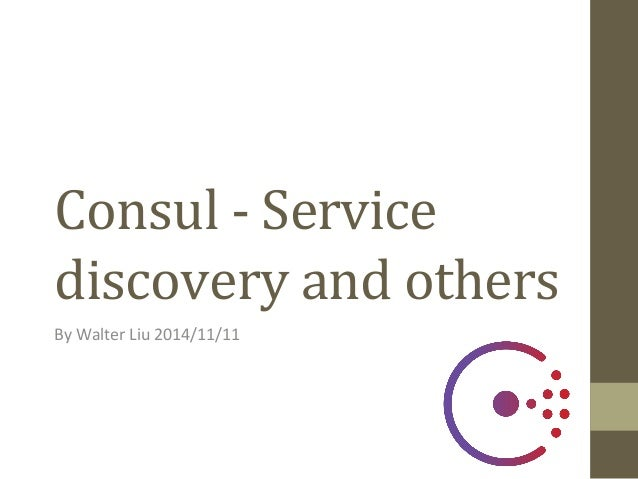 Consul service discovery and others for Consul high availability