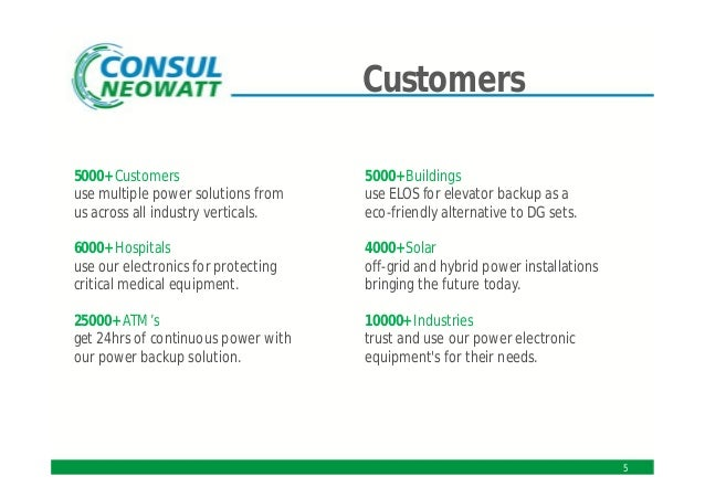 Consul neowatt power solutions pvt ltd chennai power for Consul monitoring