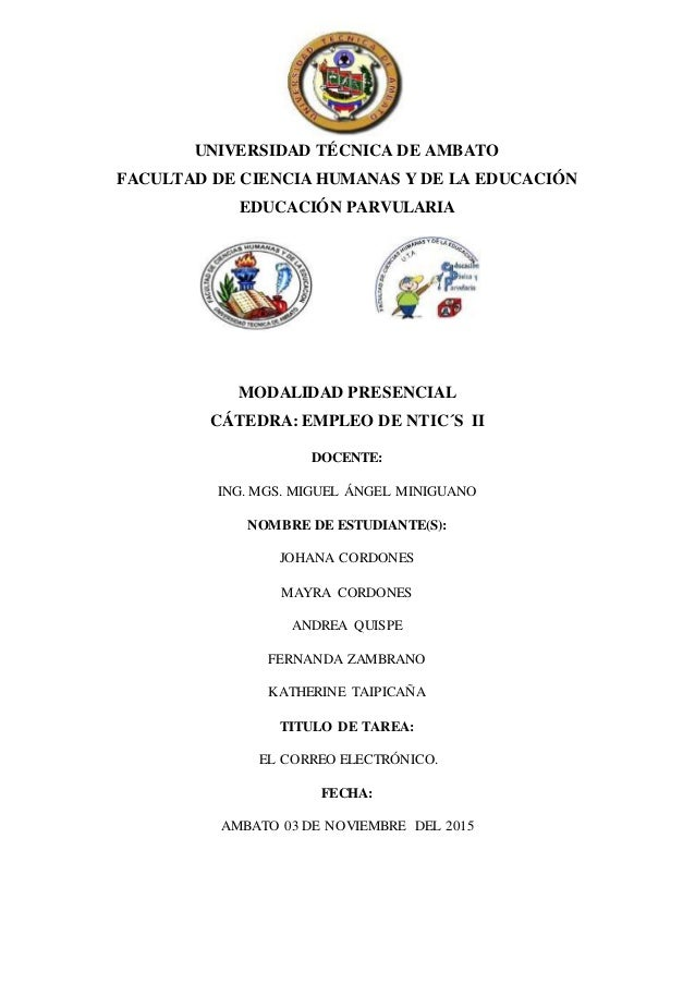 UNIVERSIDAD TÉCNICA DE AMBATO FACULTAD DE CIENCIA HUMANAS Y DE LA EDUCACIÓN EDUCACIÓN PARVULARIA MODALIDAD PRESENCIAL CÁTE...
