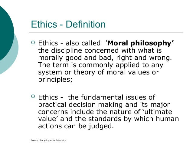 Human Nature Ethics Theory Definition