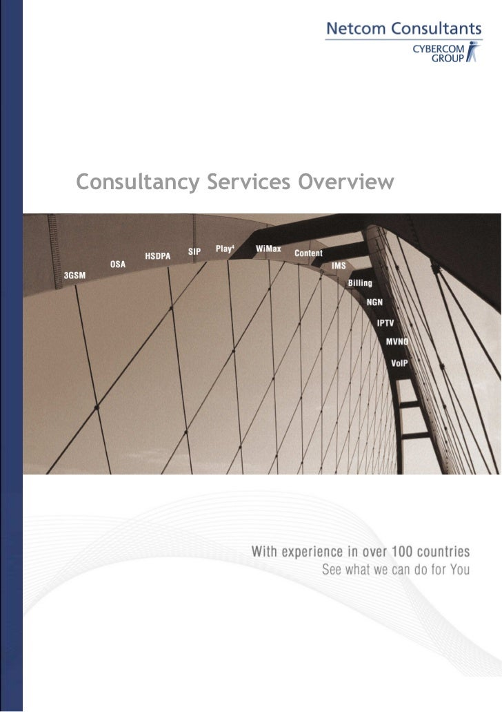 Consultancy Services Overview                 §