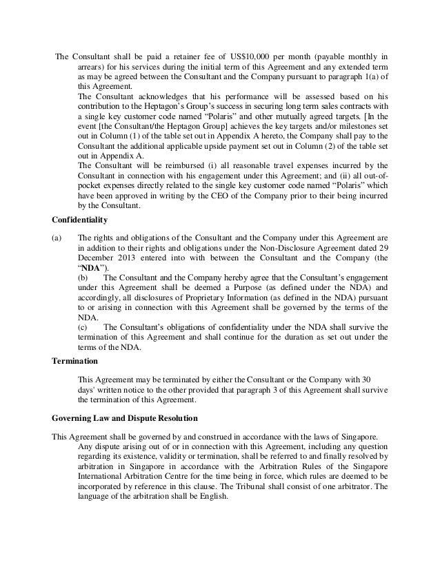 Consultant Retainer Agreement Idealstalist