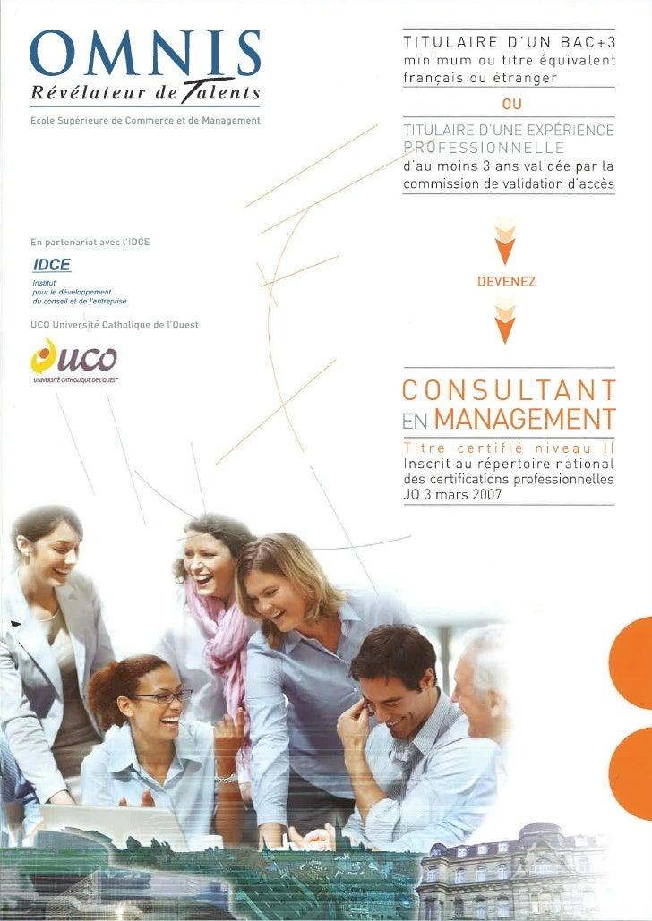 Devenez Consultant en Management