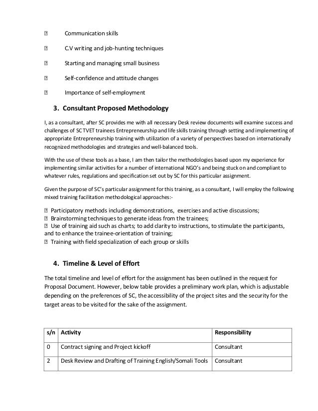 ConsultantS Technical  Financial Proposal