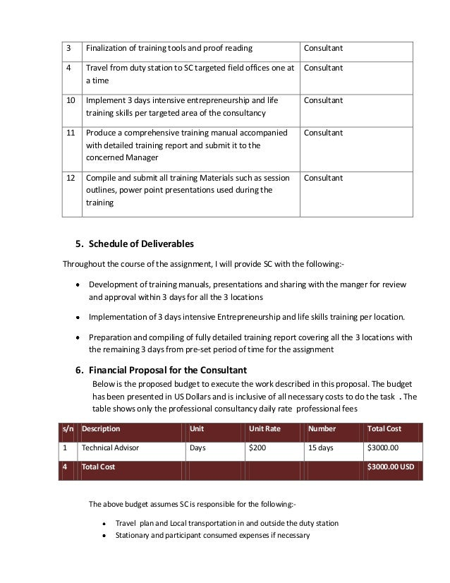 consulting assignment proposal