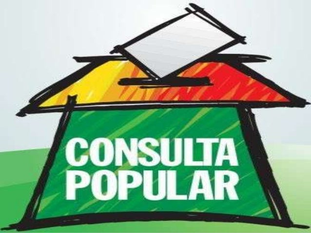 Resultado de imagen para consulta popular