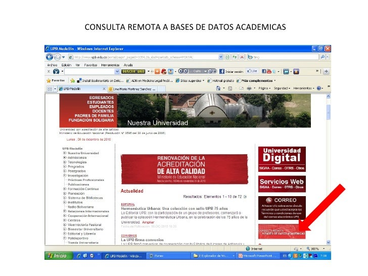 CONSULTA REMOTA A BASES DE DATOS ACADEMICAS