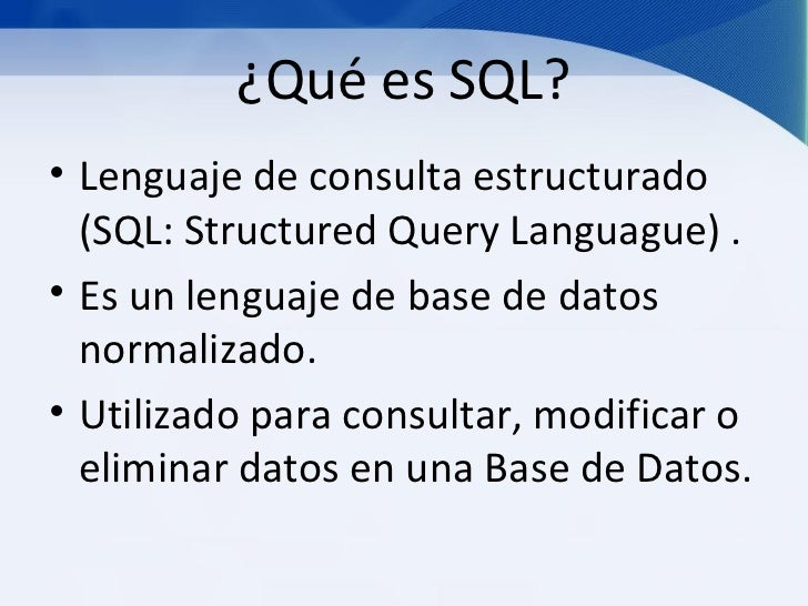Consultas base de datos en sql for Que es un consul