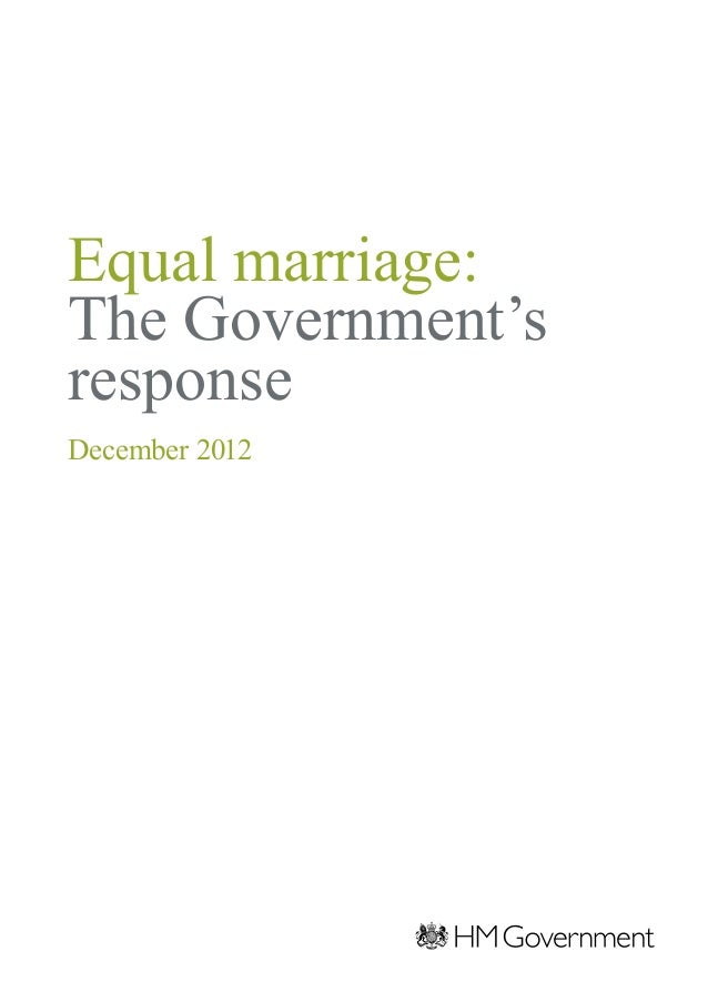 Equal marriage:The Government'sresponseDecember 2012